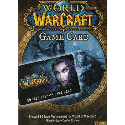 Подписка | Тайм карта World of Warcraft Time Card, 60 дней
